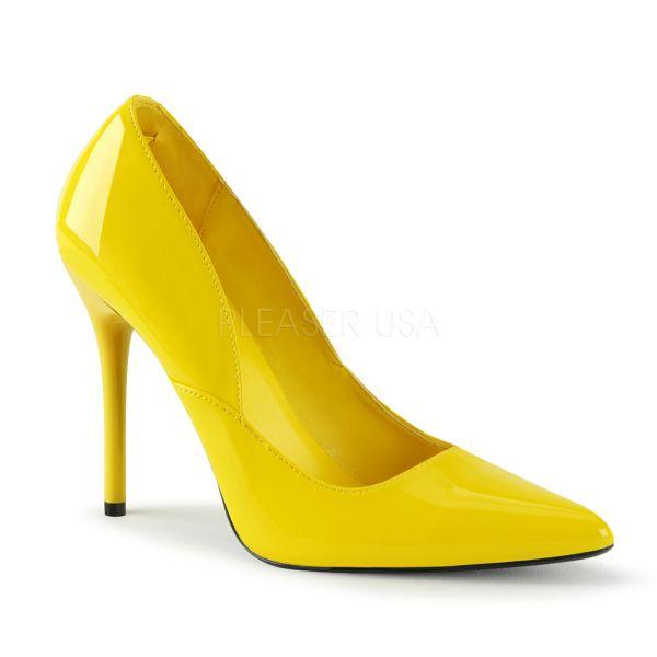 MILAN-01 gelb Lack     Klassische Pumps mit Stiletto-Absatz in Lack gelb
